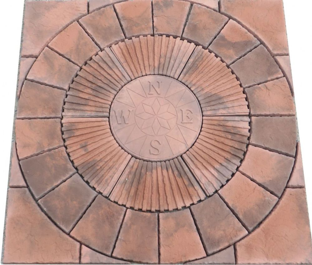 1800mm Rotunda Compass Slate Grey Plus Infill Brindle ( Red / Dark Grey Blend )
